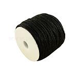 着色麻コード, 麻紐, 麻ひも, 3プライ, ジュエリー作りのための, ブラック, 2ミリメートル; 100 M /ロール