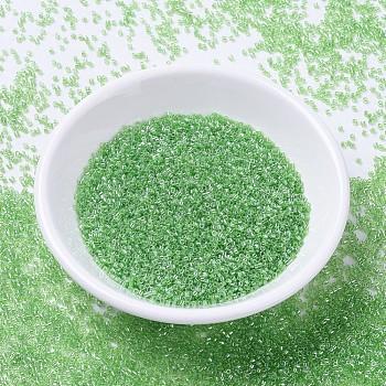 Cuentas de miyuki delica, cilindro, Abalorios de la semilla japonés, 11/0, (db1226) lime lustre transparente, 1.3x1.6mm, agujero: 0.8 mm, aproximamente 2000 unidades / 10 g