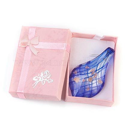 Handmade Silver Foil Glass Big PendantsX-FOIL-X052-3-1