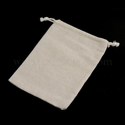 コットンラッピングポーチ巾着袋ABAG-R011-13x18-1