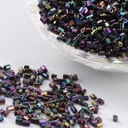 11/0 deux verre taillé perles de rocailleX-CSDB703-1