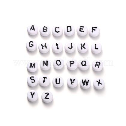 Abalorios de acrílico del alfabetoMACR-X0007-1