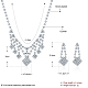 Shining Brass Rhinestone Wedding Bride Jewelry Sets SJEW-BB15888-3