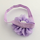 Flores de tela accesorios para el cabello cintas para la cabeza del bebé elástica para bebésOHAR-Q002-21-3