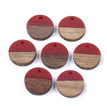 Colgantes de resina y madera de nogalRESI-S358-02E-12-1