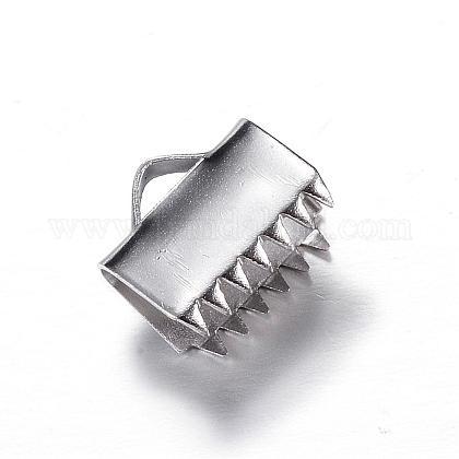 304ステンレス鋼リボンカシメエンドパーツSTAS-P090-04-1