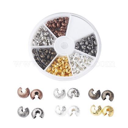 Brass Crimp Bead CoversKK-JP0005-01-1