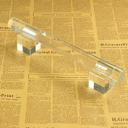 T bar en verre organique présentoir de braceletBDIS-E014-1-1