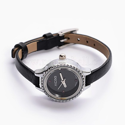 Alloy Cowhide Leather Japanese PC Movement Mechanical Wristwatches X-WACH-F007-05B-1
