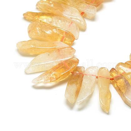 Cuentas naturales de citrino hebrasG-R419-23-1
