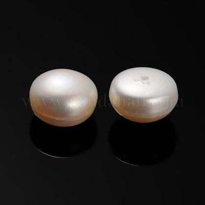 Perlas naturales abalorios de agua dulce cultivadasPEAR-E001-04-1