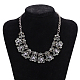 Mujeres de la moda de joya de zinc collares del collar de rhinestone de cristal de aleación babero declaración gargantillaNJEW-BB15143-D-6
