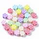 Billes de plastique polystyrène (ps) opaques, fleur, couleur mixte, 11.5x7mm, trou: 3.5 mm; environ 1000 pcs / 500 g