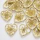 Colgantes de aleación chapada en oro claroX-PALLOY-N150-31-2