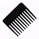 Plastic Combs, Wide Tooth Comb, Single Side Big Size Comb, Men's Hair Care Tool, Hair Massage Oil Comb, Black, 7x8.5cm