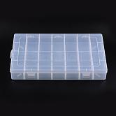 Contenedores de abalorios de plástico, Caja divisoria ajustable, Claro, Rectángulo, 22 cm de ancho, 35cm de largo, 5 cm de espesor