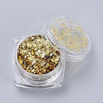 ホイルフレーク, diyの金箔フレーク, エポキシジュエリーアクセサリーフィラー用, ゴールド, 箱:2.9x1.6センチメートル