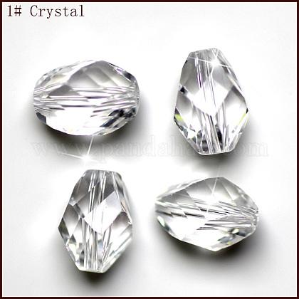 Imitation Austrian Crystal BeadsSWAR-F077-9x6mm-01-1