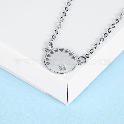 Collares pendientes de plata esterlina de modaNJEW-BB28785-A-1