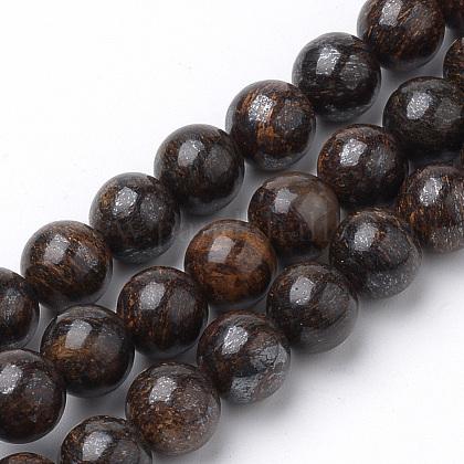 Natural Bronzite Beads StrandsG-S272-01-8mm-1