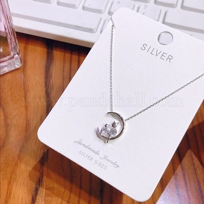 925 Sterling Silver Pendant NecklacesNJEW-BB34786-P-1