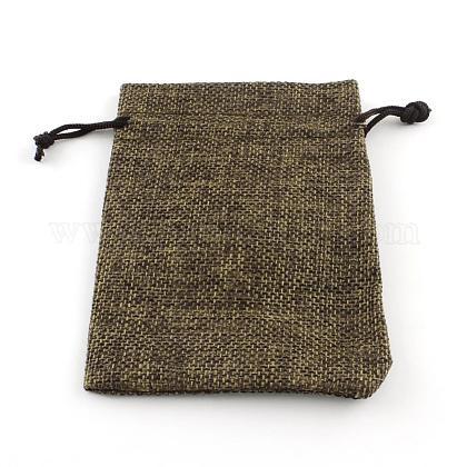 黄麻布ラッピングポーチ巾着袋ABAG-R005-9x7-05-1