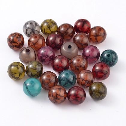 Coloridas abalorios de resinaRESI-R284-12-M-1