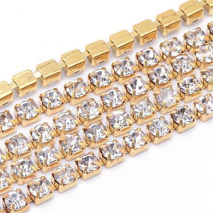 Cadenas de strass Diamante de imitación de bronceCHC-T003-SS10-01C-1