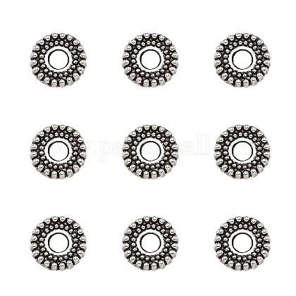 Тибетском стиле сплав Шарики прокладкиTIBEB-TA0001-07-7mm-1