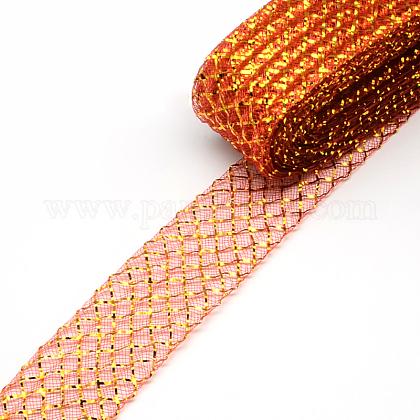 メッシュリボンPNT-R011-4.5cm-G01-1