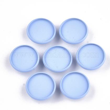Spray Painted Environmental Iron Slide Charms Cabochon SettingsIFIN-T009-17B-02-1