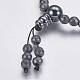 Non-magnetic Synthetic Hematite Mala Beads NecklacesNJEW-K096-11D-4