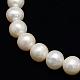 Hebras de perlas de agua dulce cultivadas naturales de grado aaaPEAR-L001-G-13-2
