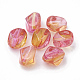 Two Tone Transparent Spray Painted Acrylic Beads Y-ACRP-T005-34A-1