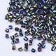 Cuentas de corneta de vidrio electrochapadoSEED-Q036-01A-B02-3