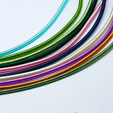 Cables de tubo de plástico redondo, cubierto con cinta de seda, color mezclado, 450~480x4mm