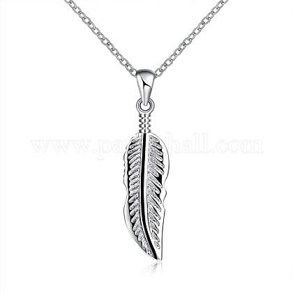 Fashion Brass Pendant NecklacesNJEW-BB26560-1