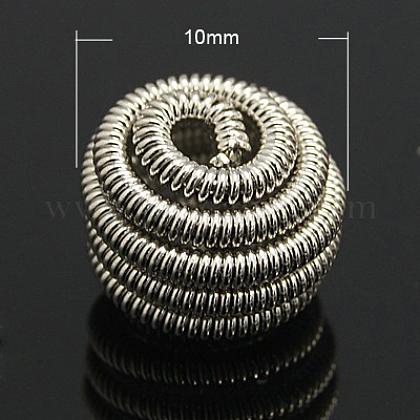 Brass Spring BeadsX-KK-C3040-N-1
