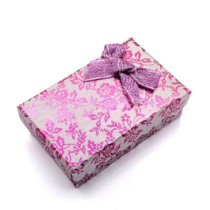 Boîtes de jeux de bijoux rectangle de cartonCBOX-S012-05-1
