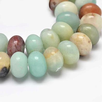 Rondelle Natural Amazonite Beads StrandsG-K094-8x5mm-A-1