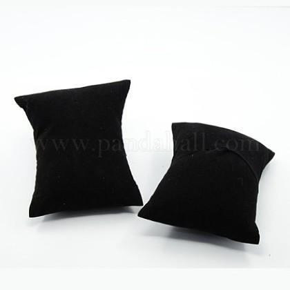 Black Rectangle Velvet Pillow Jewelry Bracelet Watch DisplayX-BDIS-I001-01-1
