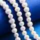 Grado de hebras de perlas de agua dulce cultivadas naturalesPEAR-L001-B-08-5