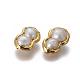 Perlas naturales abalorios de agua dulce cultivadasPEAR-F011-14G-2