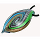 Handmade Silver Foil Glass Big PendantsX-SLSP305J-2