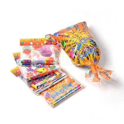 Imprimés sacs matériel de PE rectangle de plastique mixtes pour la fête d'anniversaireAJEW-J029-13B-1