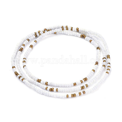 Glass Seed Beads Chain Belts NJEW-C00009-1