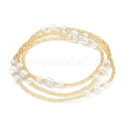Glass Seed Beads Chain Belts NJEW-C00008-1
