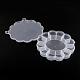 Recipientes de almacenamiento de abalorios de plástico de floresCON-Q023-21-2