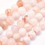 Натуральные вишневые агатовые бусины, круглые, 10 мм, Отверстие : 1 мм; около 40 шт / нитка, 15.9