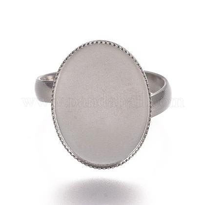 304 componentes de anillos de dedo de acero inoxidableSTAS-E482-18P-1